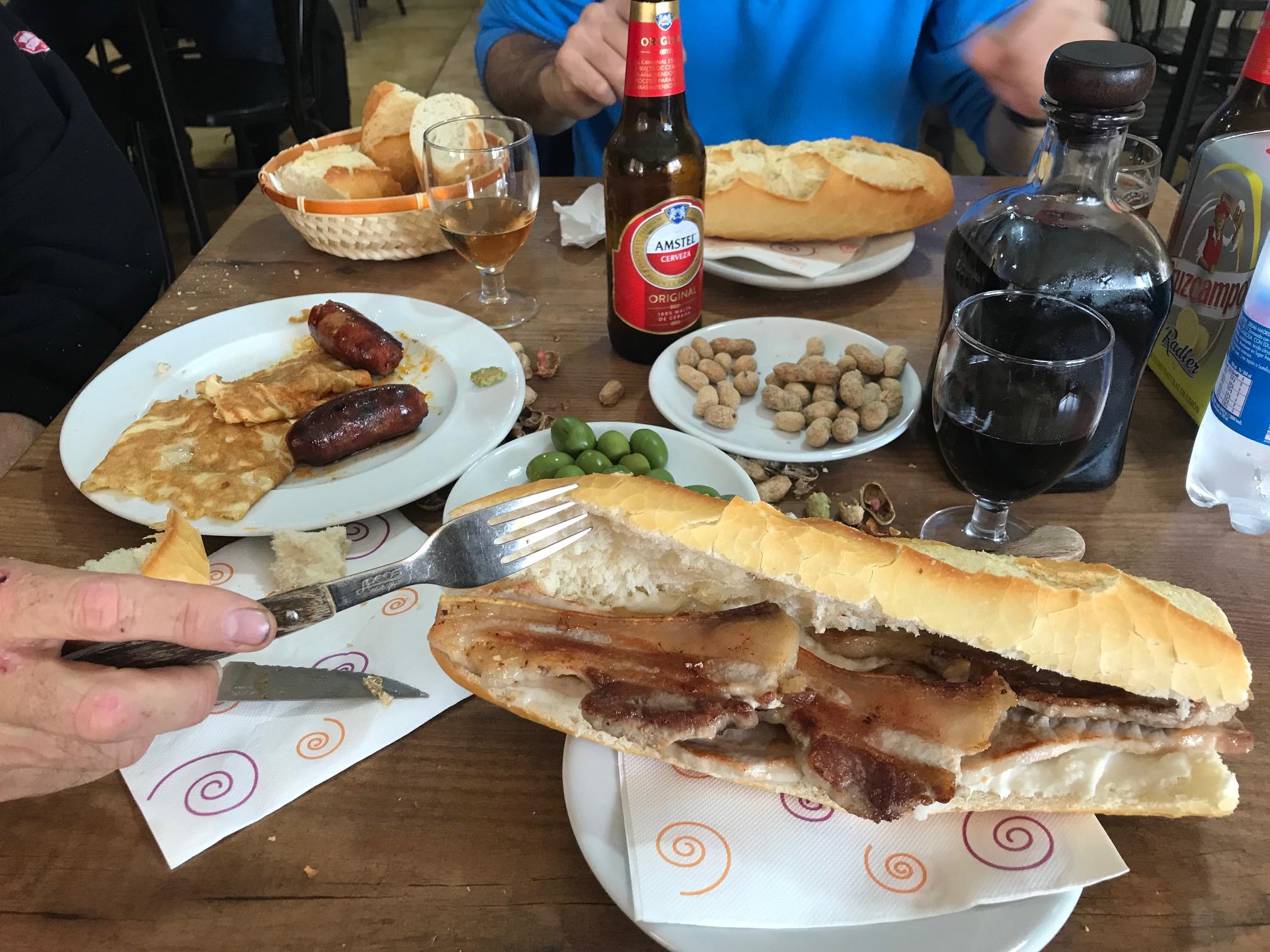 Almuerzo en Bar Pocholo de Sinarcas