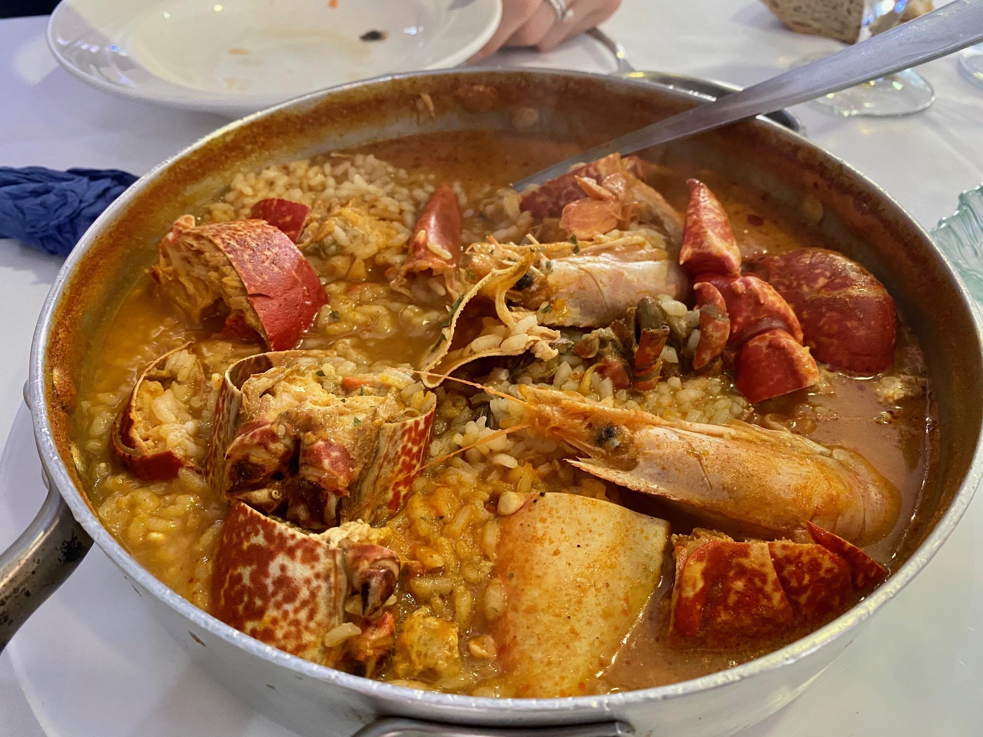 El famoso arroz caldoso de marisco de Rinlo